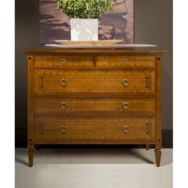 Night unit, chest of drawers + 2 bedside tables H970