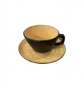 Pack of 2 Light Ochra Breakfast Cups Etruria